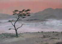 Natur, Malerei, Baum, Realismus