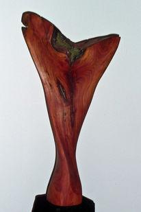 Pflaume, Skulptur, Holz, Tänzer