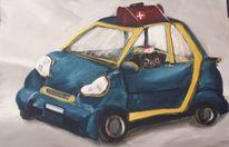 Auto, Hund, Malerei