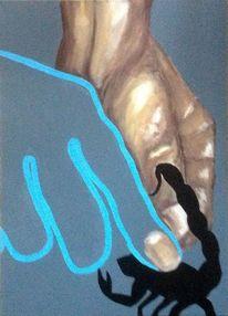 Hände, Tiere, Stich, Malerei