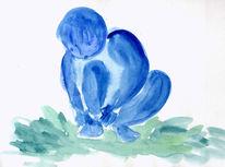 Suche, Balance, Aquarellmalerei, Finden