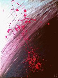 Acrylmalerei, Grenze, Droppings, Malerei