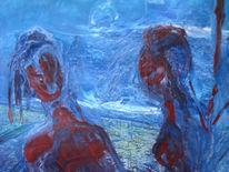 Malerei, Abstrakt, Ausschnitt