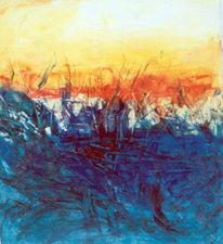 Abstrakt, Malerei, Feld, Blick
