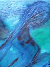 Malerei, Abstrakt, Ausschnitt, Wesen