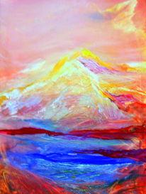 Malerei, Glühen, Berge