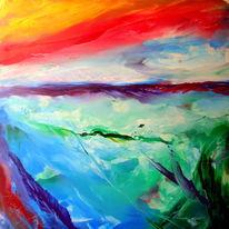 Bewegt, Kraft, Wind, Malerei