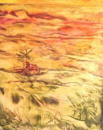 Abstrakt, Malerei, Windmühle,