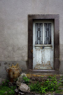 Tür, Blumen, Verlassen, Verfall
