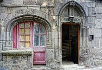 Tür, Verfallen treppe, Fenster, Treppe