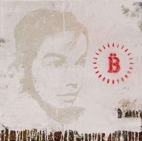Sängerin, Björk, Malerei, Figural