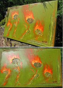 Abstrakt, Blumen, Malerei