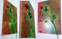 Malerei, Rose, Stillleben