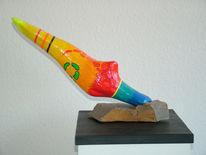Farben, Skulptur, Freundlich, Plastik