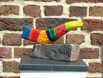 Plastik, Farben, Skulptur, Bruchstein