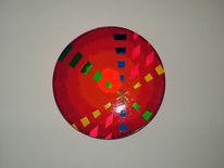 Farben, Teller, Abstrakt, Bunt