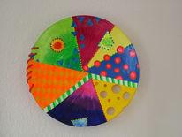 Farben, Teller, Obst, Abstrakt