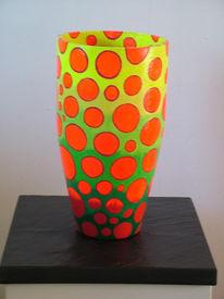 Skulptur, Freundlich, Vase, Dekoration