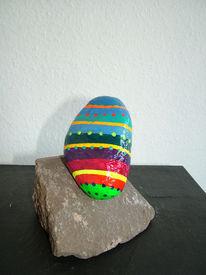 Bunt, Stein, Freundlich, Skulptur