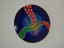 Abstrakt, Farben, Holzschale, Obstschale