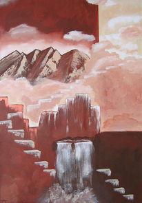 Wasser, Hindernis, Weg, Wasserfall