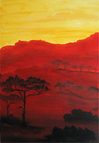 Schnee, Abend, Afrika, Sonnenuntergang