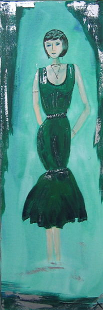 Kleid, Frau, Mode, Grün