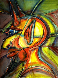 Teufel, Abstrakt, Malerei