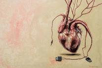 Herz, Malerei, 2017, Gemälde