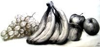 Zeichnung, Stillleben, Früchte, Zeichnungen