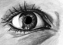 Kohlezeichnung, Zeichnung, Augen, Zeichnungen