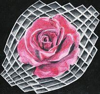 Stillleben, Aquarellmalerei, Rosenkaro, Acrylmalerei