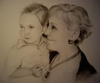 Zeichnung, Portrait, Zeichnungen, Tante