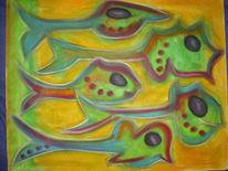 Abstrakt, Zeichnung, Zeichnungen, Regenbogen