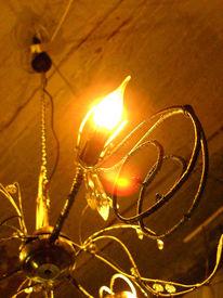 Lampe, Kronleuchter, Glas, Licht