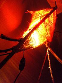 Lichtdesign, Filzwolle, Lampe, Holz
