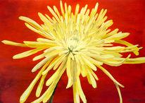 Rot, Blumen, Gelb, Malerei