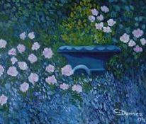 Schale, Garten, Frühling, Malerei