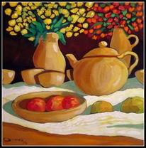 Stillleben, Äpfel, Malerei