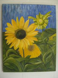 Blüte, Flora, Ölmalerei, Gelb