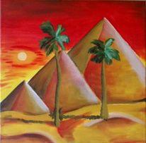 Landschaft, Malerei, Ägypten