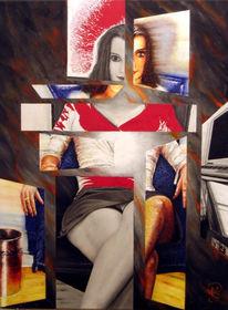 Versuchung, Malerei, Belästigung, Gesellschaft