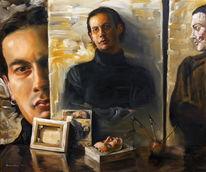 Malerei, Portrait, Figural, Joker