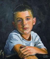Portrait, Acrylmalerei, Gemälde, Ölmalerei