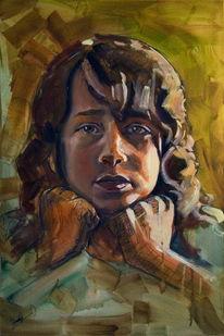 Figural, Malerei, Acrylmalerei, Portrait