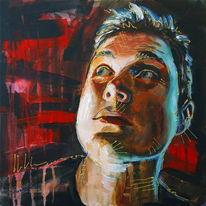 Portrait, Gemälde, Acrylmalerei, Ölmalerei