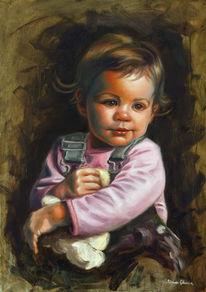 Gemälde, Ölmalerei, Figural, Malerei