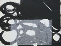 Schwarz, Malerei, Abstrakt, Hell