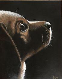 Fell, Acrylmalerei, Pinsel, Hund