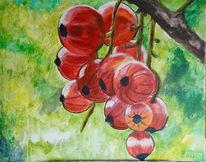 Perspektive, Acrylmalerei, Beere, Kugel